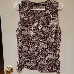 Banana  Republic  sleeveless blouse  petite L